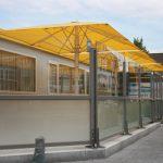 Paroi coupe-vent pour terrasse de restaurant