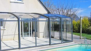 V randa couvert de terrasse mobile lamatec for Spa exterieur couvert