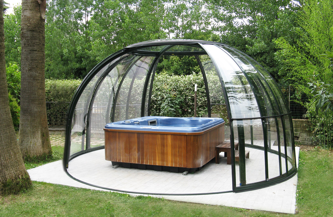 Abri de spa en promotion lamatec for Prix dome piscine