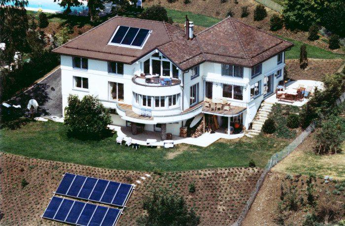 Installation de chauffage solaire