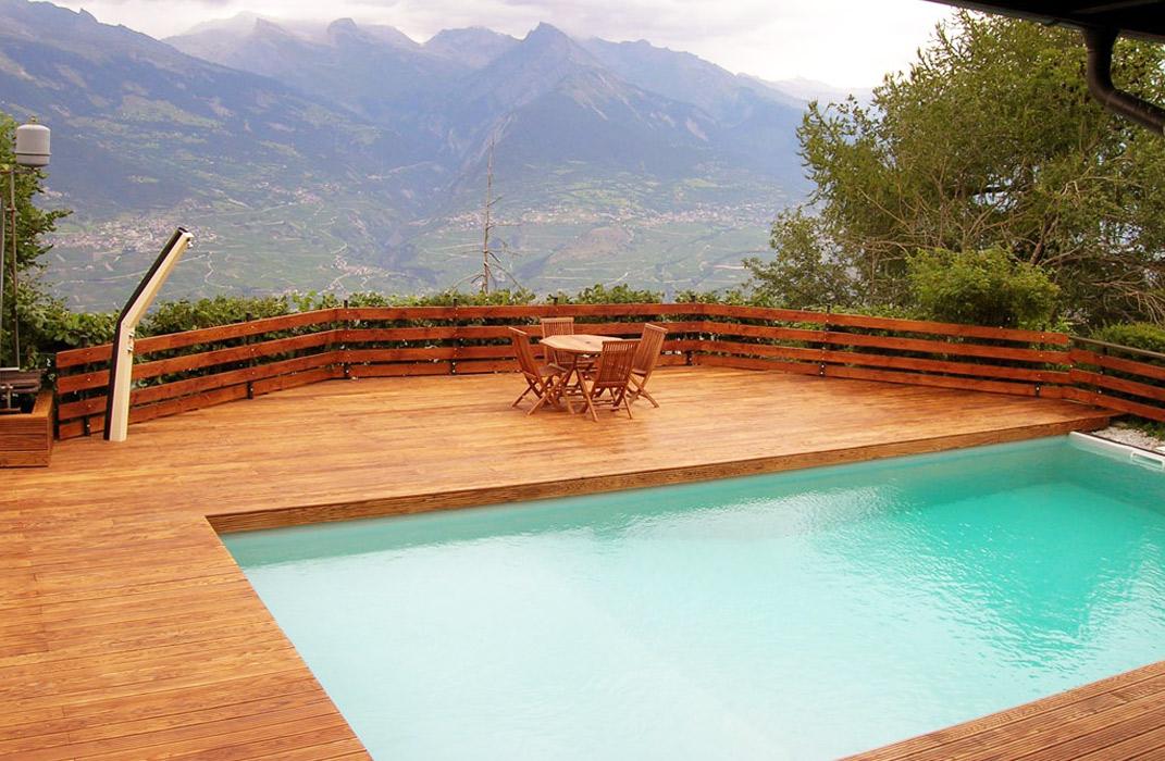 Piscine - Piscine extérieure sur terrasse
