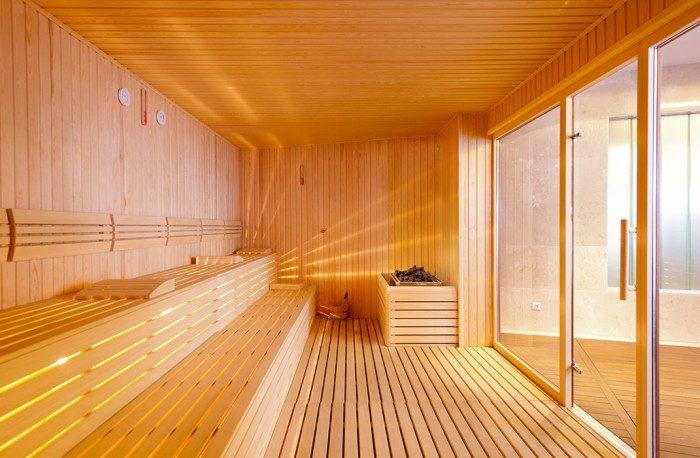 Sauna finlandais vitré