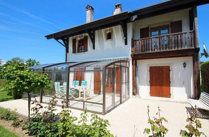 Véranda mobile pour terrasse, région de Genève