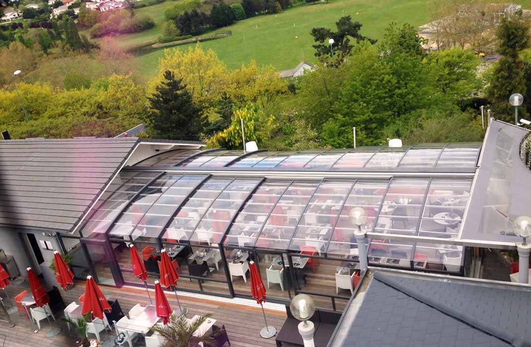 Veranda Terrasse Restaurant : V u00e9randa pour terrasse de restaurant Lamatec