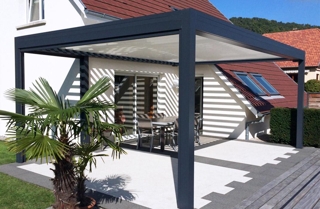 pergola open anthracite lamatec. Black Bedroom Furniture Sets. Home Design Ideas