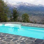Piscine extérieure coque polyester avec escalier roman, hivernage de la piscine