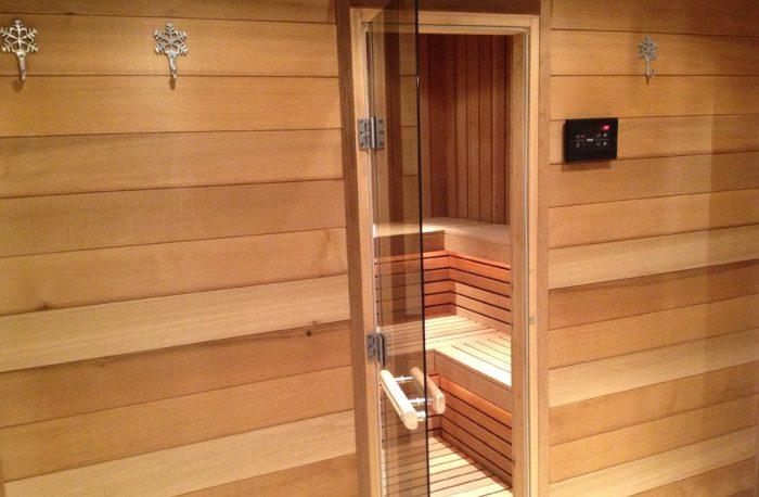 Sauna finlandais traditionnel à Crans-Montana
