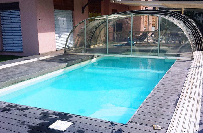 Installations de v randas pergolas abris lamatec for Abri de piscine sans rail au sol