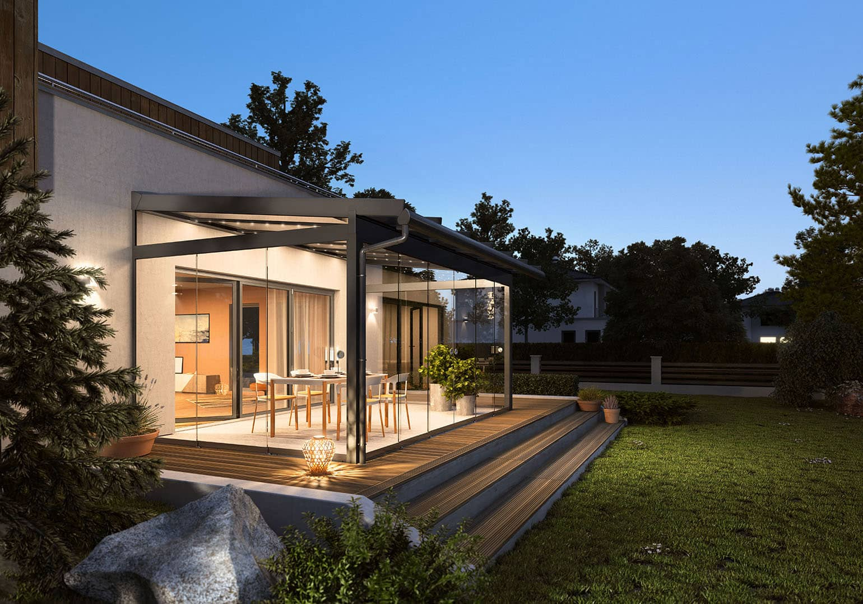 Fermeture de terrasse et toit de terrasse Sunflex