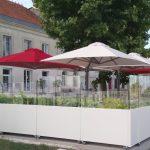 Coupe-vent mobile pour terrasse de restaurant