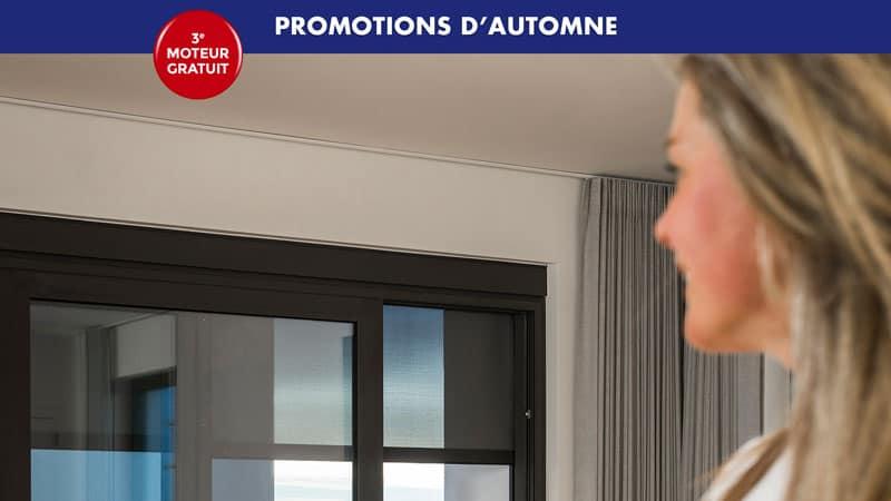 Promotions d'automne 2019 sur les stores motorisés Renson